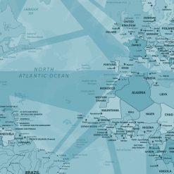 Blue Compass Map Pin Board