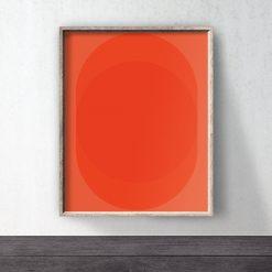 Red Poster download Circle Art