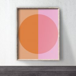 Orange downloadable print