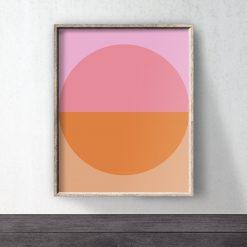 Pink Orange Abstract Downloadable Art