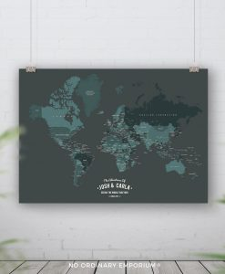 Push Pin Board World Map Personalised Gift