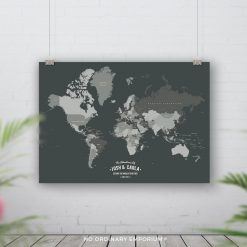 Push Pin Board World Map Personalised Gift