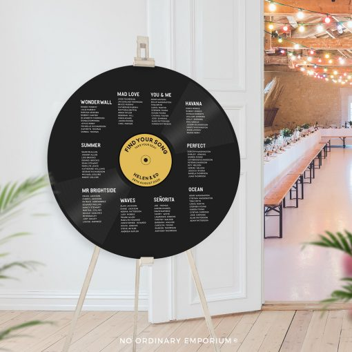 Record Table Plan Music Theme Wedding