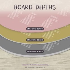 Round Foam Board Depths
