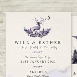Enchanted Winter Woodland Invitations