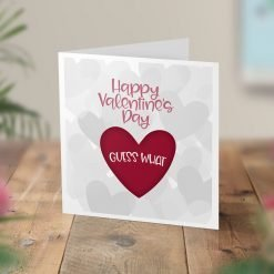 Personalised Valentine's Surprise Trip Card