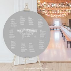 Round Travel Theme Table Plan Seating Chart