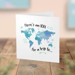 IOU Trip Card - A surprise for a future trip!