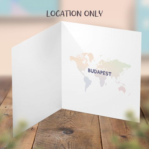 Surprise Card Inside Personalised with Location