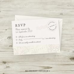 Passport Travel Theme Wedding Invitation RSVP Cards