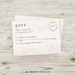 Passport Travel Theme Wedding Invitation RSVP Cards