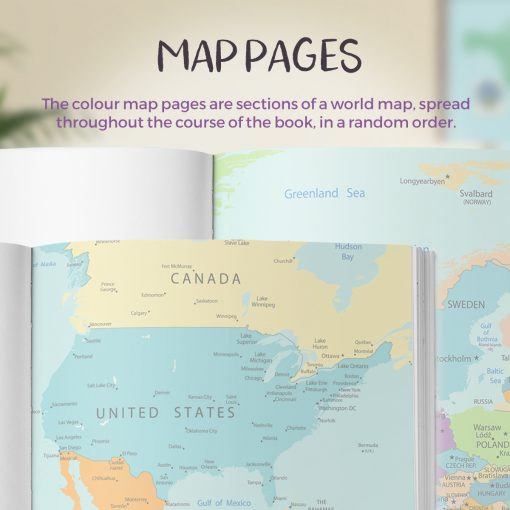 Map Pages No Ordinary Emporium Travel Journals