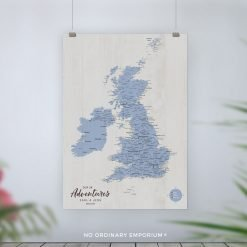 UK Push Pin Board Map