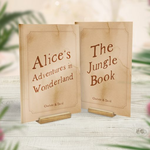 Book Themed Wedding Table Cards