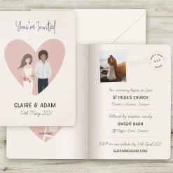 Personalised Portrait Wedding Invitations