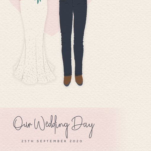 Custom Personalised Wedding Portrait