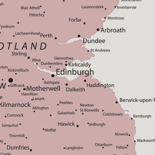 UK Push Pin Board Map