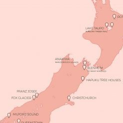 New Zealand Honeymoon Map Gift