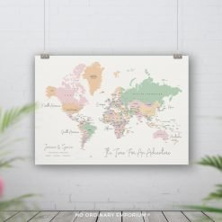 Personalised Push Pin World Map