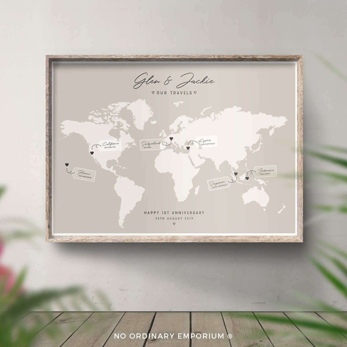 Couples travel map