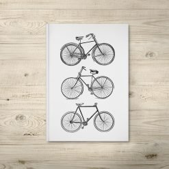 Bicycle Illustration Notebook Journal
