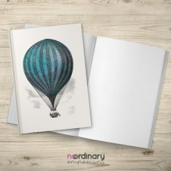 Vintage Hot Air Balloon Illustration Notebook Journal