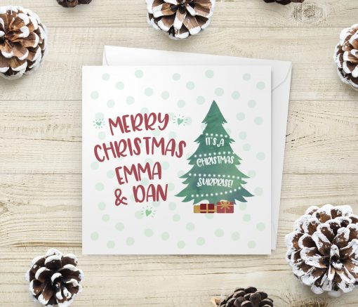 Personalised Christmas Surprise Card