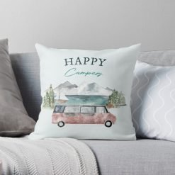Happy Campers Pillow Cushion