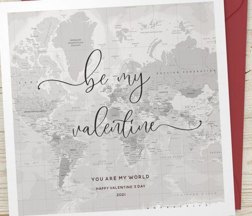 Be My Valentine Map Card