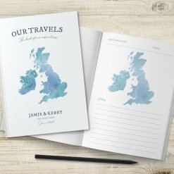 UK Map Travel Journal