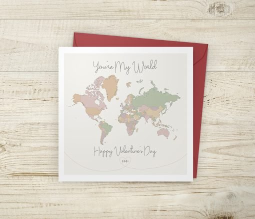 Happy Valentine's Day Map Card