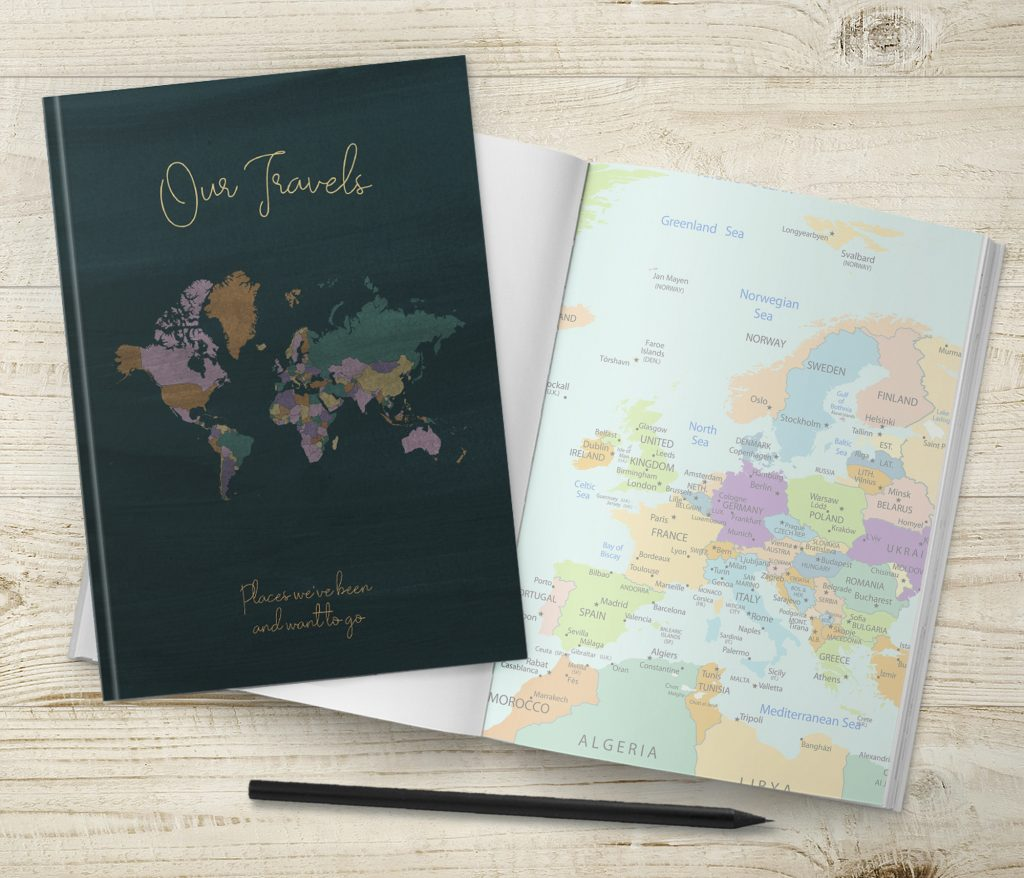 Our Travels Journals With Maps Inside