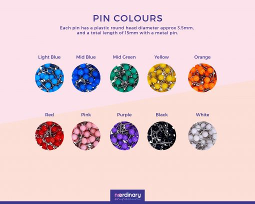 Pin Colour Options