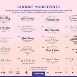 Font Chart Notebooks