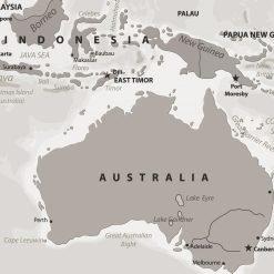 Beige Stone Grey Pin Board Map