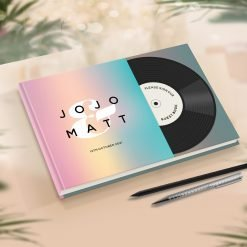 Music Theme Wedding Guest Book
