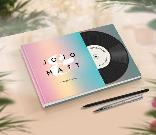 Music Theme Wedding Guest Book