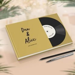 Record Guest Book Music Theme Wedding