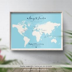 Custom Travel Map Personalised