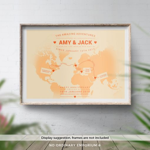 Personalised World Travel Map