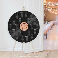 Record Table Plan Music Theme Wedding
