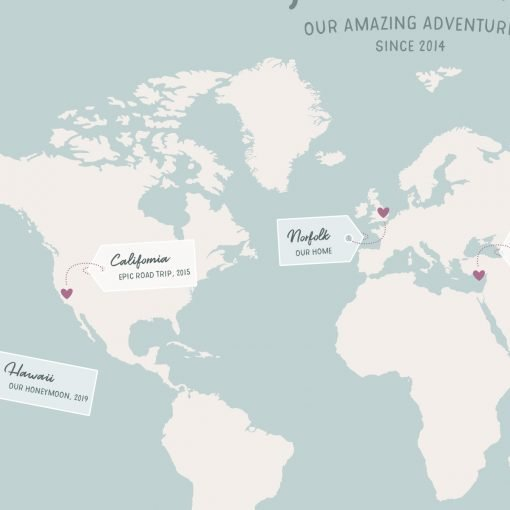 Our Amazing Adventures Map